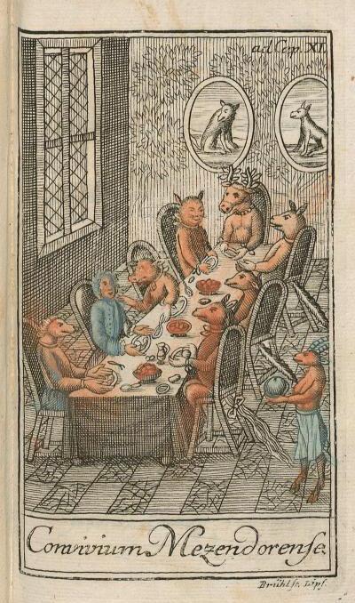 Banquet avec des animaux,1754
