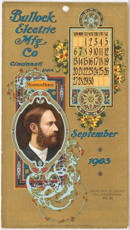 1903 Calendar, Cincinnati