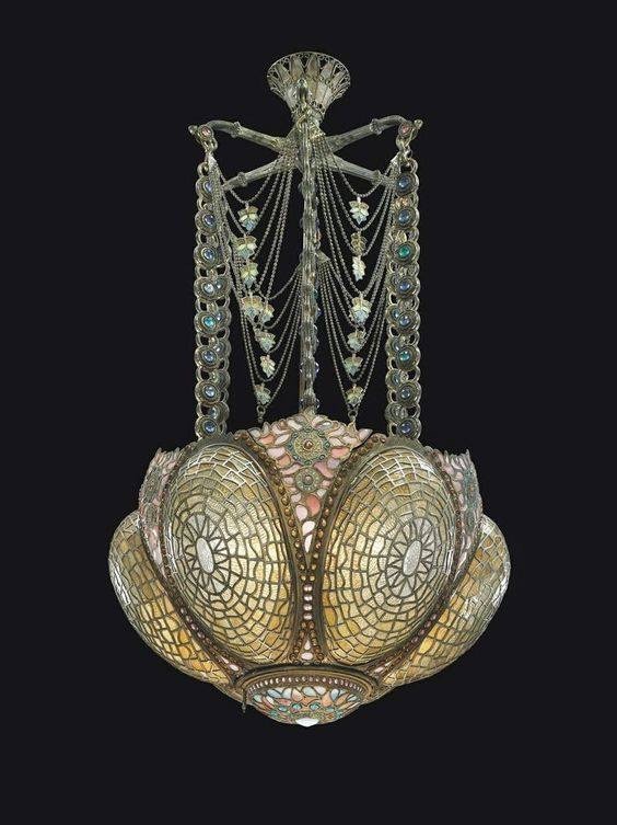 Art Nouveau hanginglamp