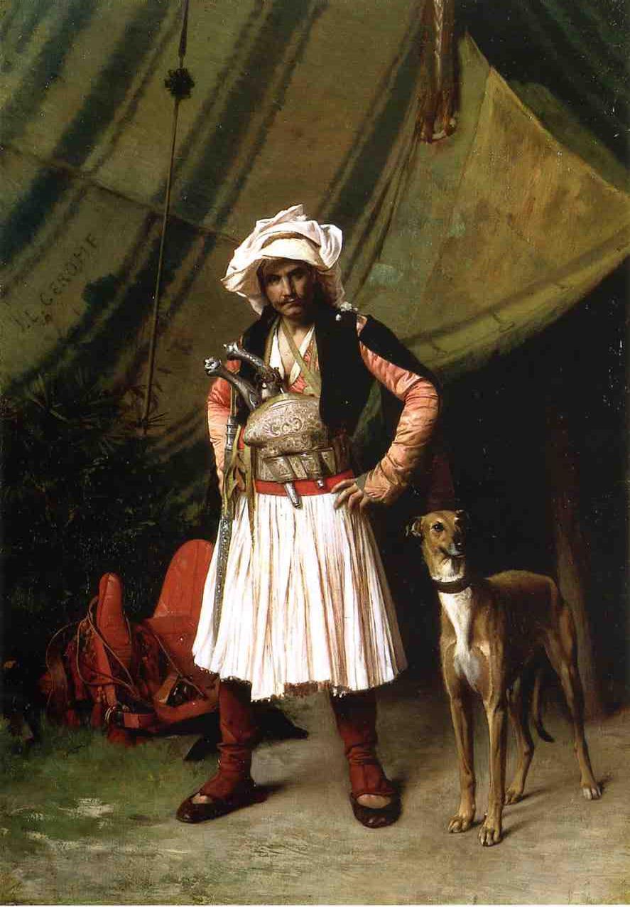 """Bashi-Bazouk and His Dog"" by Jean-LeonGerome"