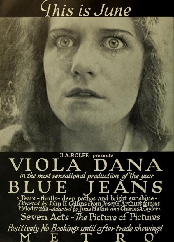 "Silent movie classic ""Blue Jeans"",1917"