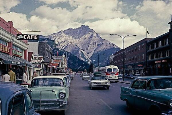 Banff, Alberta, Canada in the early 1960s