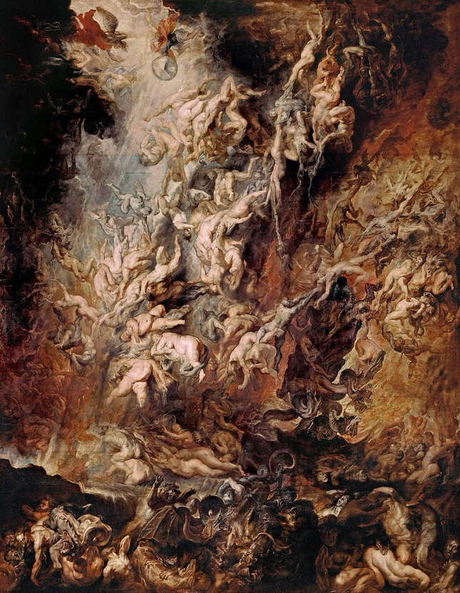 """The Fall of the Damned"" by Peter Paul Rubens"
