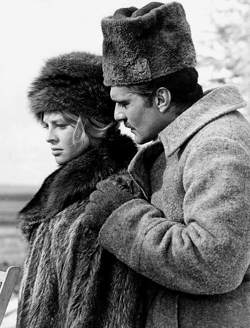 """Julie Christie and Omar Sharif in """"DoctorZhivago"""""""