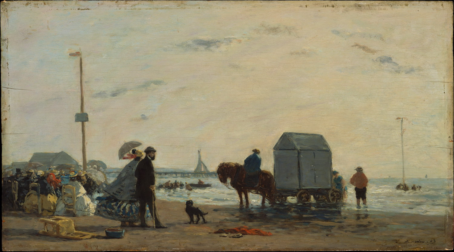 Painting by Eugene Boudin, Deauville, France