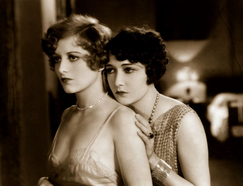 "Joan Crawford (left) and Dorothy Sebastian in ""Our Dancing Daughters"", 1928"