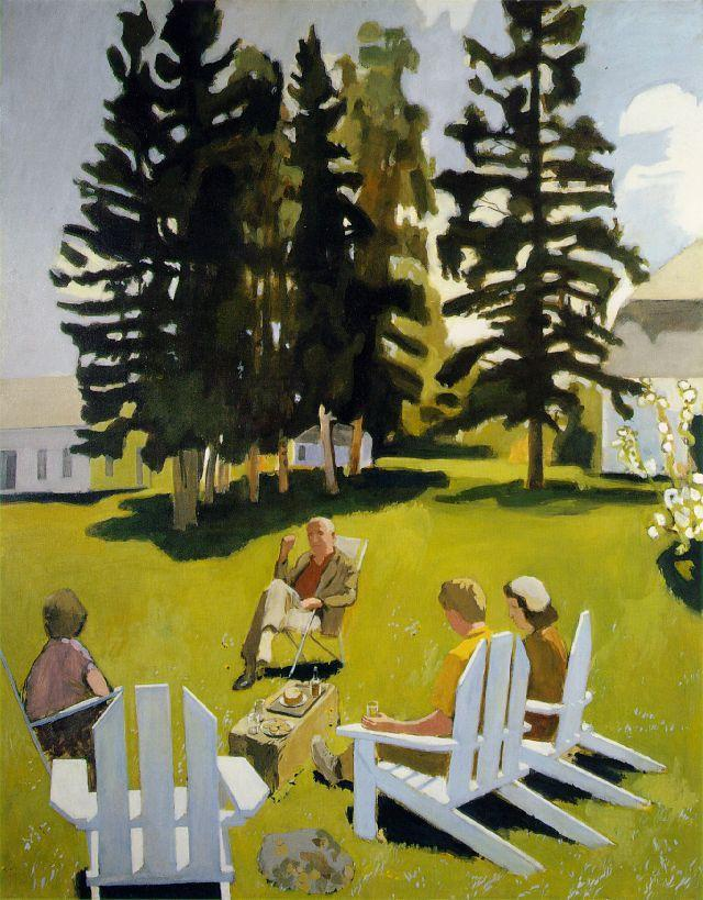 """July"" – by Fairfield Porter"