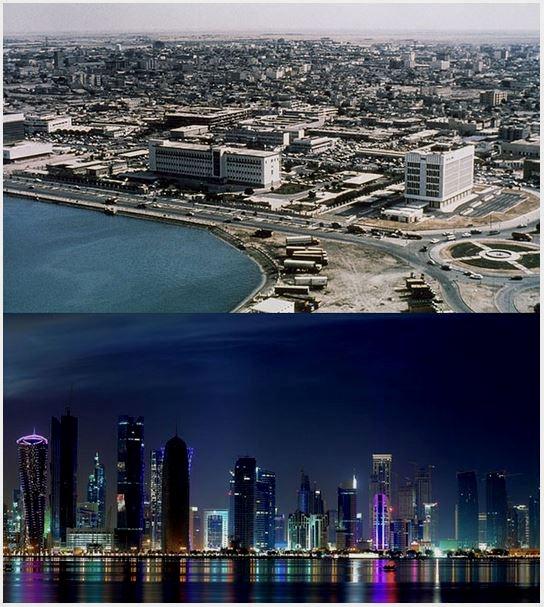 Doha, Qatar, has changed in the last 30+years!