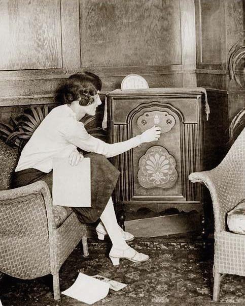 Listening to the radio, circa1930