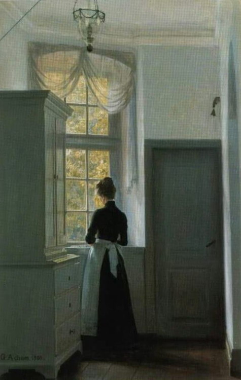 """Reverie at the Window"" by Georg Nicolaj Achen, 1903"