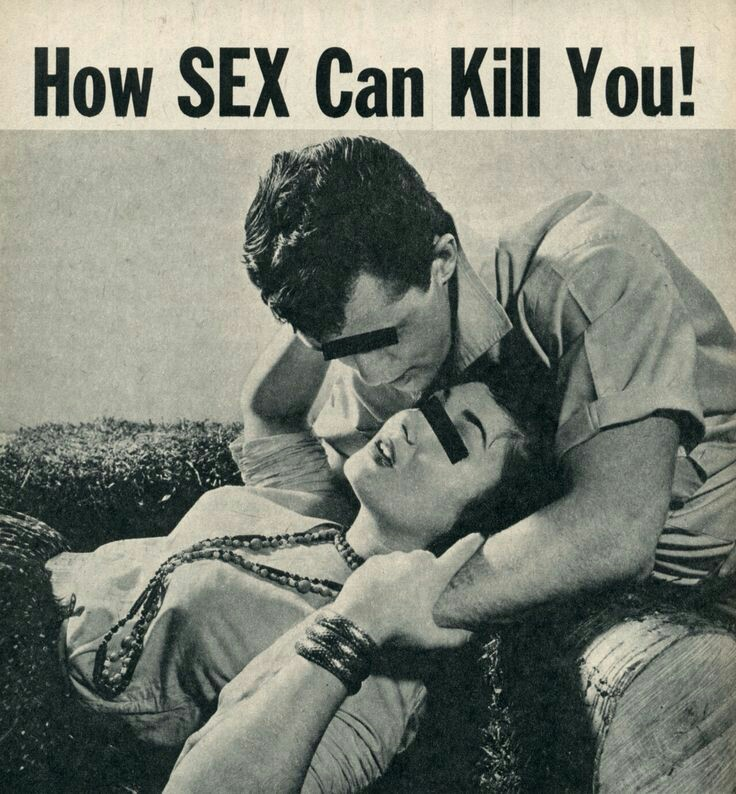 Sex can kill you! (1950s sex abstinence poster)