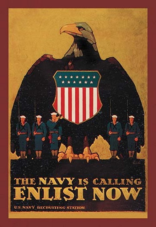 The US Navy is calling, WWI era