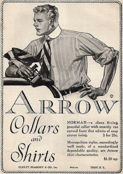 Arrow collars & shirts, circa 1910