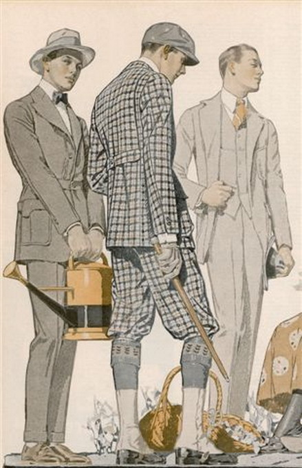 Men's outdoor wear, 1910s