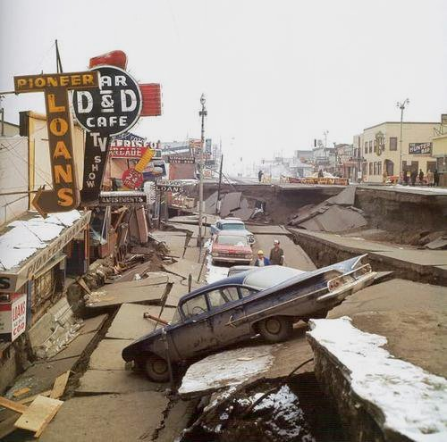 Destruction from the massive 1964 Alaskaearthquake