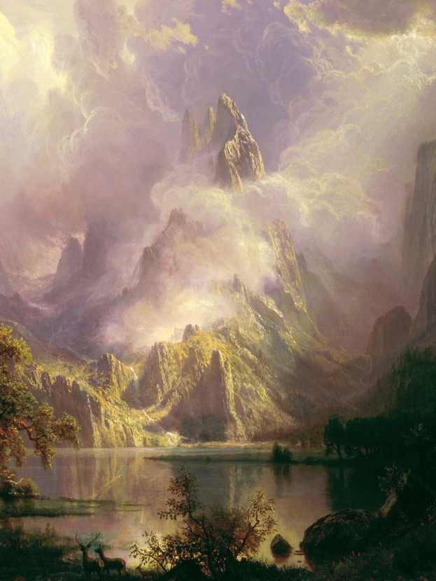 Landscape painting by Albert Bierstadt