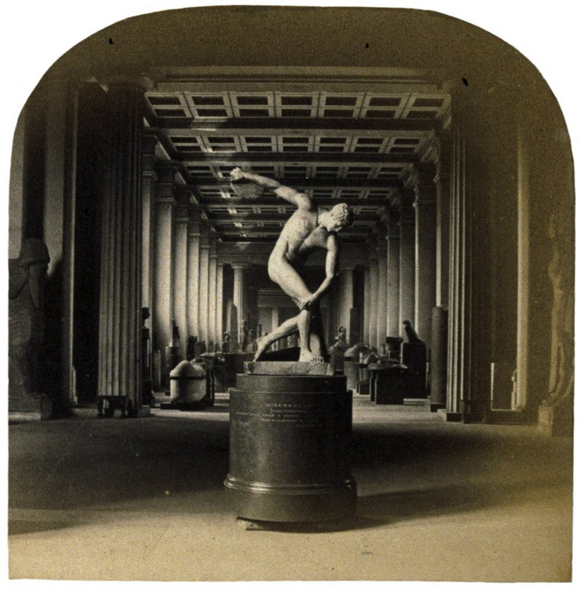Inside the British Museum, London, 1800s