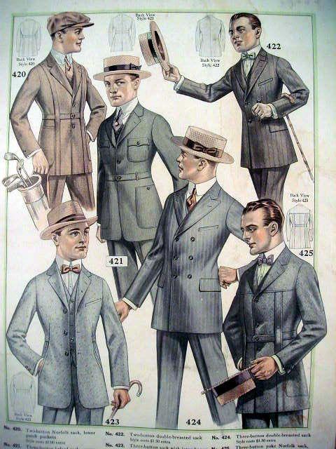 Men's clothes, circa1900