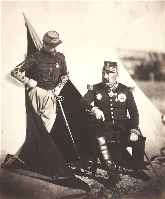 French officers in the Crimean War, photo by Robert Fenton,1850s