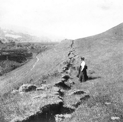 Along the epicenter of the San Francisco 1906 Earthquake, San Andreas fault just outside thecity