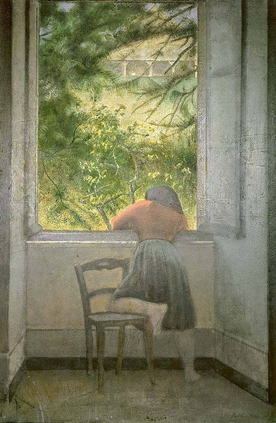 """Girl at the Window"" by Balthus"