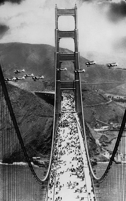Opening Day, Golden Gate Bridge, San Francisco,1937