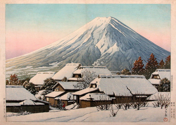 "Kawase Hasui ""Clearing After a Snowstorm in Yoshida"""