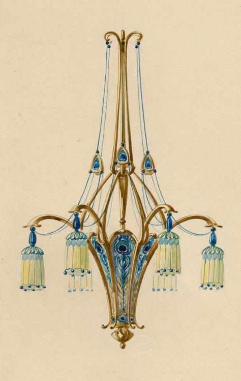Lamp design, 1890s