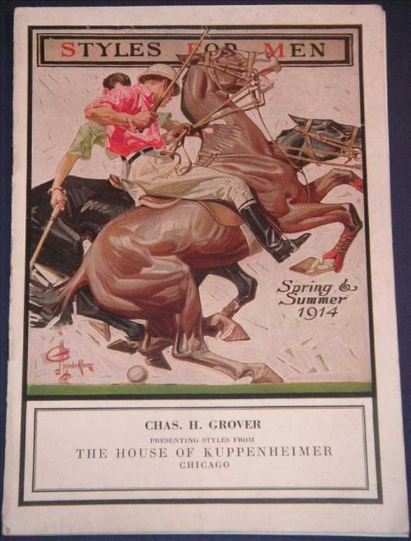 Leyendecker Illustration for The House of Kuppenheimer Spring/Summer 1914Fashions