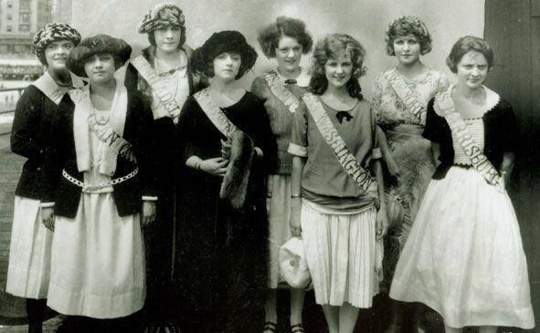Contestants in the first Miss America contest, 1921