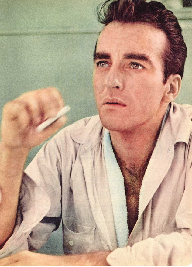 Montgomery Clift having a smoke break