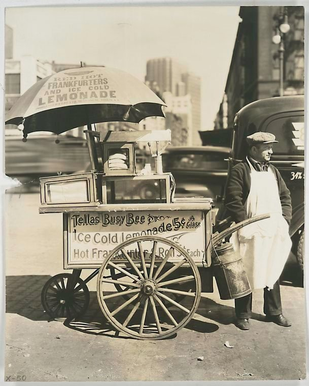 Lemonade vendor, NYC, 1936 by BereniceAbbott