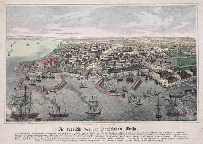 German picture of Odessa, Ukraine,1850