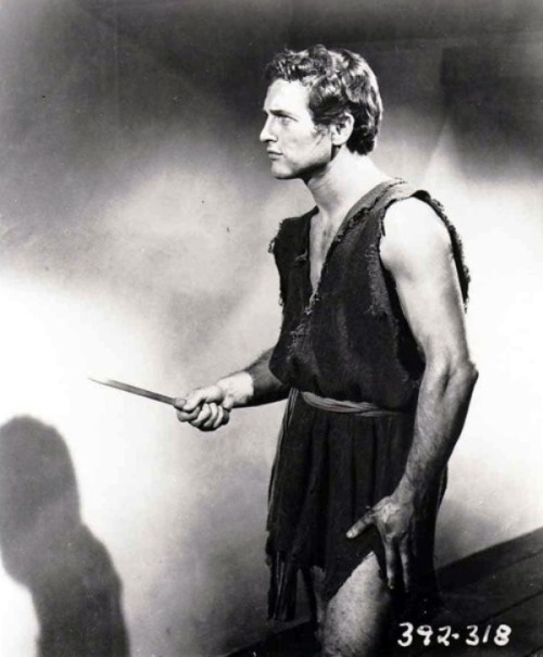 """Paul Newman in his first film, """"The Silver Chalice"""",1954"""
