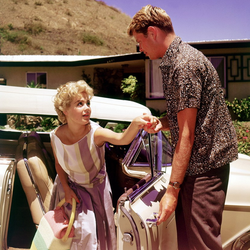 """Sandra Dee and Troy Donahue in """"A Summer Place"""",1959"""