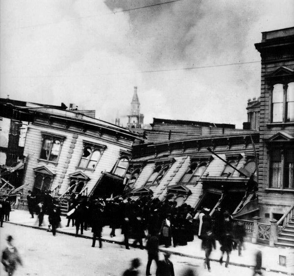 Toppled Buildings, San Francisco Earthquake,1906