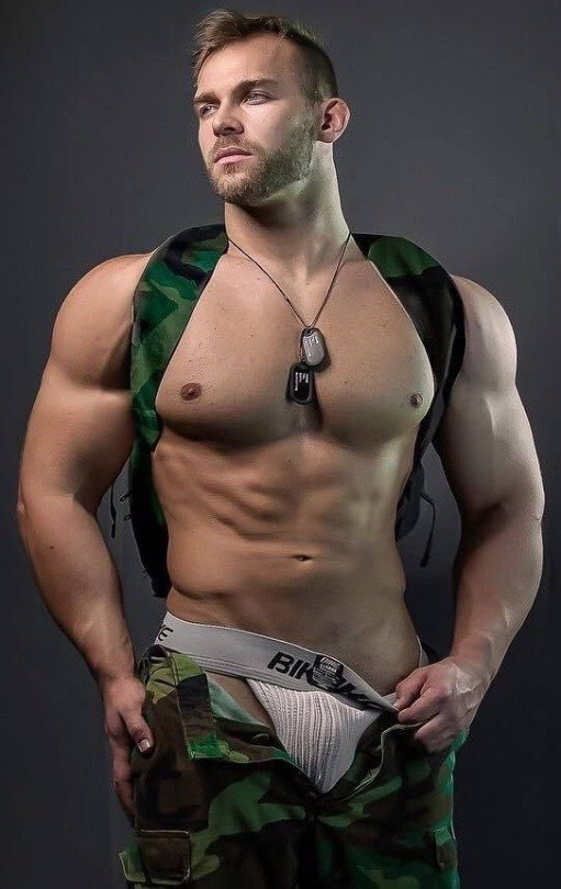Shirtless Soldier