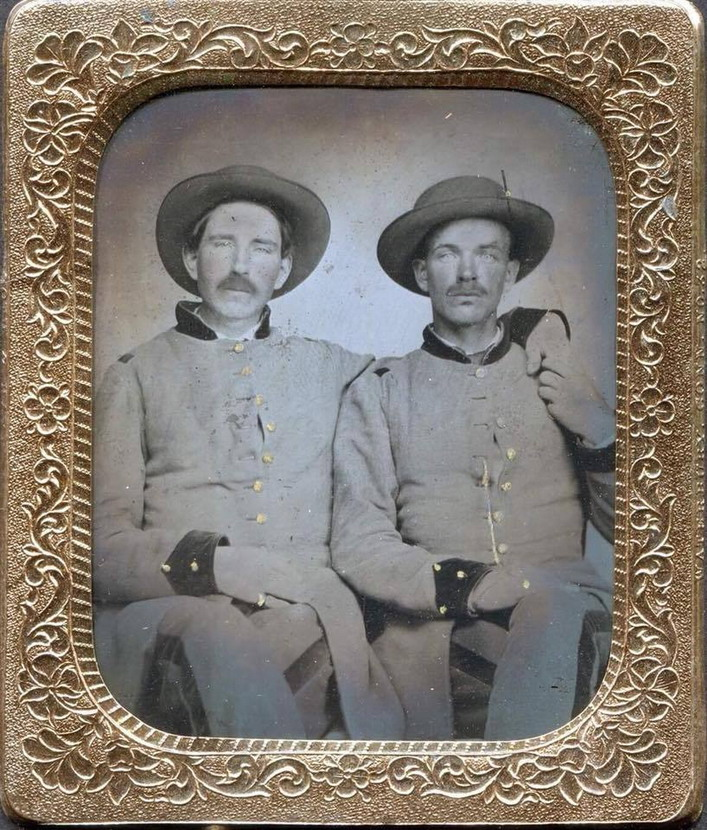 Confederate soldiers, US Civil War, 1860s