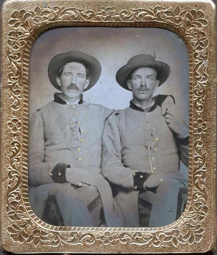 Confederate soldiers, US Civil War,1860s