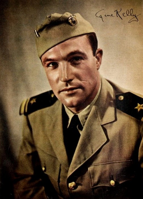 Gene Kelly in uniform, WWII, 1940s
