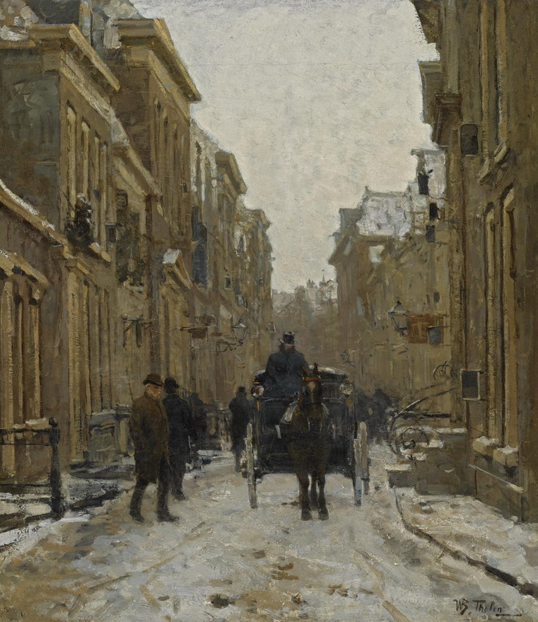 """""""A Carriage in the Streets of Voorburg"""", by Dutch artist Willem BastiaanTholen"""