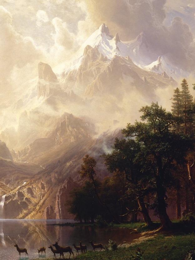 Landscape painting by AlfredBierstadt
