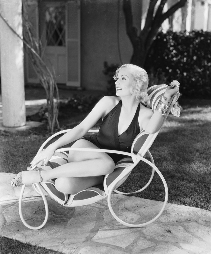 Carole Lombard in a swimsuit, 1930s