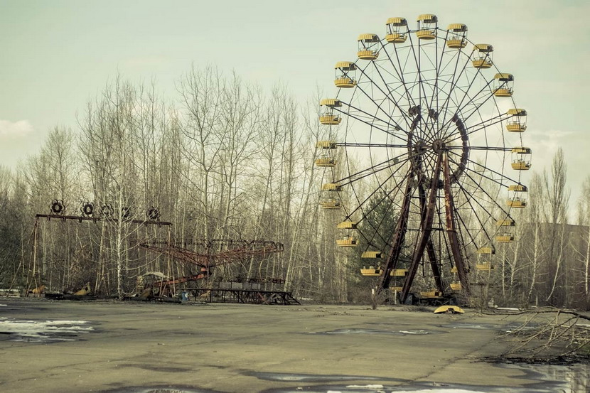 Abandoned amusement park near the Chernobyl nuclear disastersite
