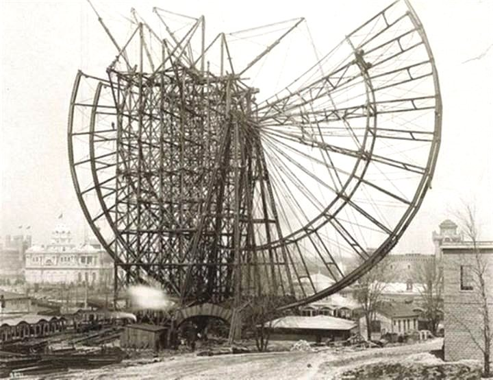 Building the first ferris wheel in the US,Chicago
