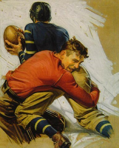 Football illustration by Leyendecker
