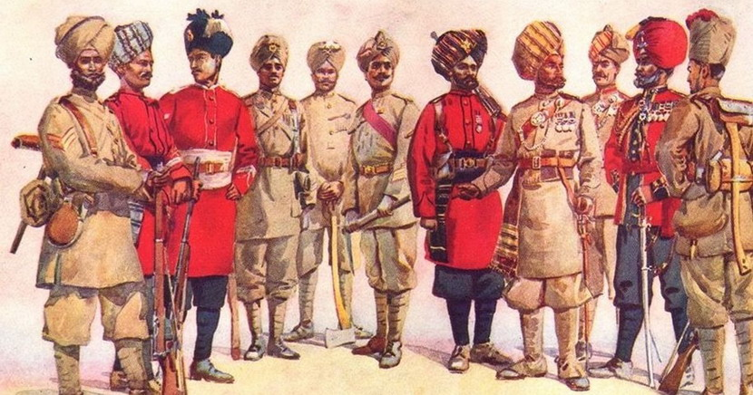 Indian army uniforms,1800s