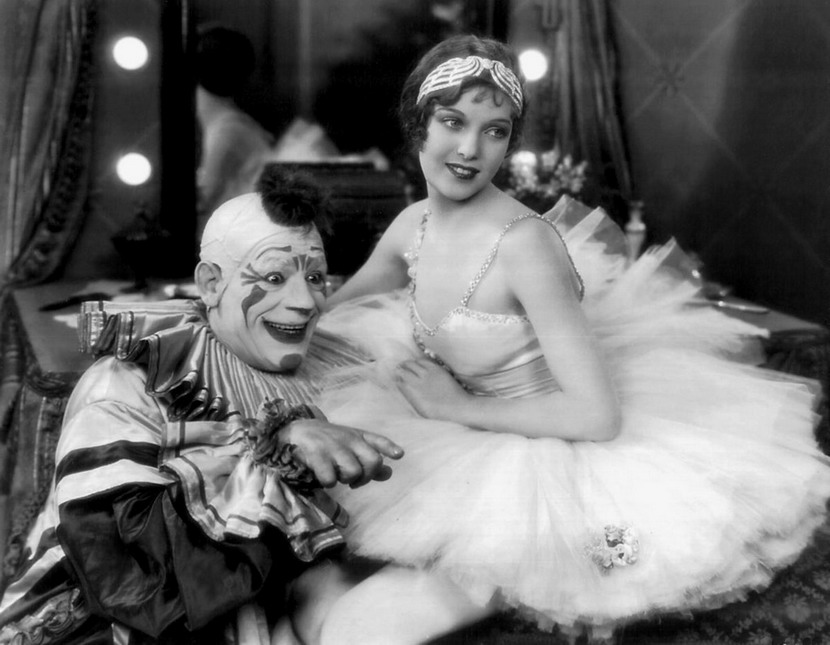 """Lon Chaney and young Loretta Young in """"Laugh, Clown, Laugh"""",1928"""
