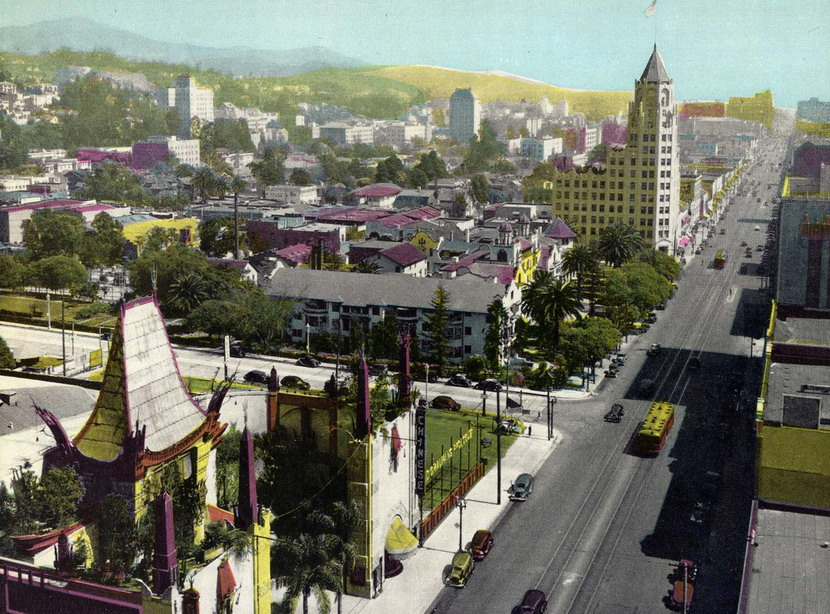 Hollywood Boulevard, Los Angeles, 1934
