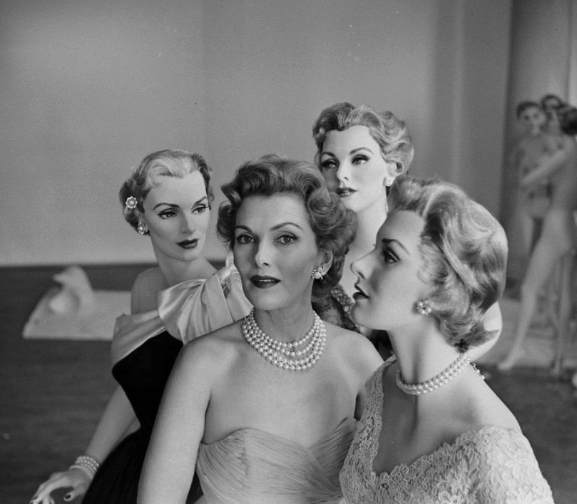 Models and mannequins, early 1950s
